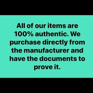All of our items are 100% authentic!